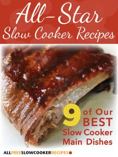 All-Star Slow Cooker Recipes: 9 of Our Best Slow Cooker Main Dishes Free eCookbook - RecipeChatter Slow Cooker Times, Best Slow Cooker, Crock Pot Slow Cooker, Slow Cooker Recipes, Crockpot Recipes, Cooking Recipes, Crockpot Dishes, Copycat Recipes, Cooking Ideas