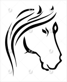 Tribal Horse Head Tattoo Design