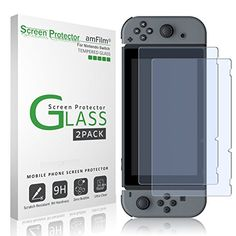 Specifically designed for Nintendo Switch Ultra-clear High Definition with 99.9% transparency to allow an optimal, natural viewing experience Ultra thin-0.3mm thickness is reliable and resilient, and promises full compatibility with touchscreen sensitivity Highly durable, and scratch resistant - surface hardness 9H and topped with oleophobic coating to reduce fingerprints. Includes: 2x GLASS Screen Protector, Wet/Dry Wipes, Squeeze Card, Easy Installation Use Guide, Dust Removal Stickers