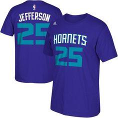 Mens Charlotte Hornets Al Jefferson adidas Purple Net Number T-Shirt $28