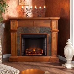 Electric Fireplace Media Center Corner Portable Forced Air Heater For Large Room #UptonHome