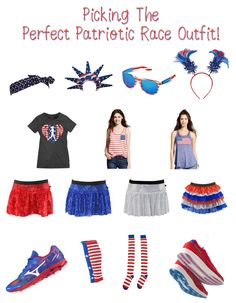 Picking out the perfect Patriotic Race Outfit for a Marathon/Marathon High School Cross Country, Races Outfit, Patriotic Outfit, Marathon, Kicks, Dress Up, Racing, Workout, Chic