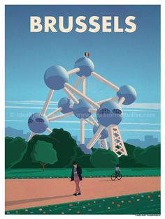 Brussels Poster by IdeaStorm Studios ©2017. Available for sale at ideastorm.bigcartel.com
