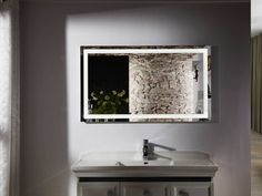 Budapest IV large lighted vanity mirror LED bathroom mirror will create an exciting fresh look for your bathroom design by providing a stylish, luxurious and trendy look. The LED mirror lighting is virtually maintenance free; Interior Design Inspiration, Modern Bathroom Design, Diy Vanity Mirror, Bathroom Mirror, Led Mirror Bathroom, Bathroom Mirror Lights, Bathroom Design, Bathroom Decor, Bathroom Mirror Design