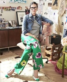 Conversation: Jenna Lyons - Style Muse In her office at J. Foto Fashion, Fashion Mode, Street Fashion, Jenna Lyons, Look Blazer, Mode Jeans, Looks Chic, Mode Outfits, Mixing Prints