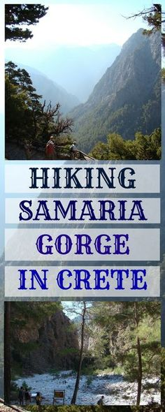 Samaria Gorge (Crete, Greece) walk tips for beginners - how to plan your visit? what to pack? Should you go on a tour or organize the trip yourself? Things to know before your trip? Where to be careful? Best tips for your visit to Samaria Gorge along with photos of the hike.
