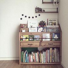 """D-series"" magazine rack picture book shelf Dark walnut ☆ emuz-mode ☆"