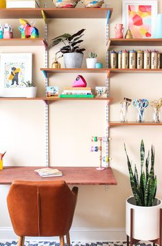 Learn how to make this diy mounted wall desk for your office in about an hour (and for less than $250)!