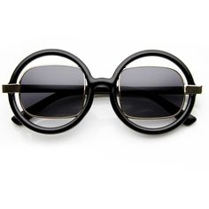 Designer Fashion Round Square Lens Cut Out Sunglasses 8940 ($19) ❤ liked on Polyvore featuring accessories, eyewear, sunglasses, round eyewear, round lens glasses, square sunglasses, uv protection sunglasses and square glasses