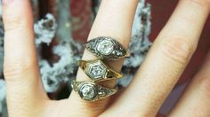 Antique rings available at David Klass Jewelry.