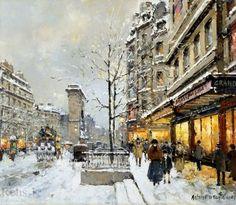 Porte St. Denis, Winter, Blanchard (143 pieces)