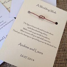 Wedding Wish Bracelets Wedding Favours Infinity Knot Table | Etsy