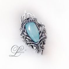 handmade ring technique: wire-wrapping materials: silver, chalcedony Facebook page and more news and pictures Online shop etsy shop