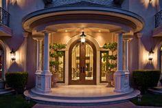 11 Elegant Front Door Design Ideas For Luxury House Main Entrance Door Design, Front Door Design, House Entrance, Style At Home, Latest Door Designs, Mansions Homes, California Homes, House Front, Modern House Design