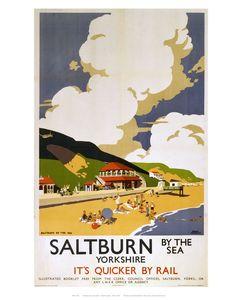 Railway Poster - Saltburn by the Sea Art Print