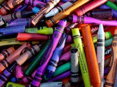 making candles from old crayons