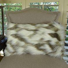 Tibet Fox Handmade Faux Throw Pillow