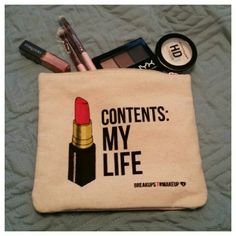 """Lipstick make up bag Adorable cosmetic pouch. Make up not included but for sale in my closet. Size - 6""""×7"""" Bags Cosmetic Bags & Cases"""