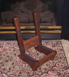 Ron Kieper wooden guitar stand. Also makes Cello Stands. BEAUTIFUL WORK!