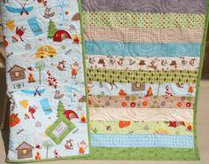 Fox Trails Boy Quilt Handmade. $148.00, via Etsy.