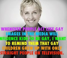 Ellen has an important message about gay kids.