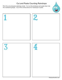 Printable Math Worksheets for kids with math symmetry, animal counting, pizza fractions, skip counting, multiplication grids and math adding printables. Pizza Fractions, Free Math Worksheets, Kids Cuts, Skip Counting, Cut And Paste, Math For Kids, Math Activities, Boxes