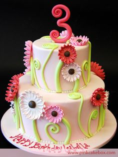 Cake Morgan wants for Lily's first birthday - I can't wait to make it!