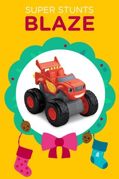 We're giving away 78 prizes in 12 days. This Super Stunts Blaze vehicle is one of them!