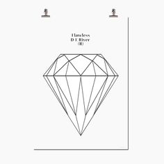 Some have them on the finger, we like them best on the wall. Flawless is the name for a diamond that is completely free of inclusions, the rarest. Check it out at wallstuff.se