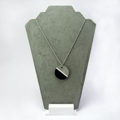 Jewels of concrete modern round cement cement necklace