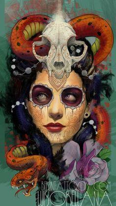 day of the dead design by ~mojoncio on deviantART