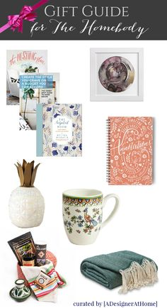 Gift Guide for the Homebody & A GIVEAWAY part of the Ultimate Gift Guide Collection