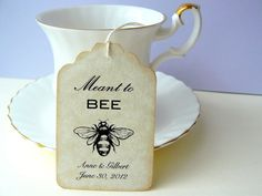 Bee luggage labels