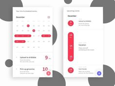 Calendar app UI design inspiration by Asar Morris. Join our email list to get daily UI tips and tricks link in bio! Share your designs with us!