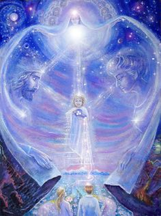 A soulmate is an ongoing connection with another individual that the soul picks up again in various times and places over lifetimes. Spirited Art, Angel Pictures, Visionary Art, Angel Art, Russian Art, Sacred Art, Psychedelic Art, Fractal Art, Sacred Geometry