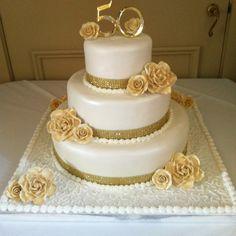 <b>50th</b> <b>wedding</b> <b>anniversary</b> <b>cake</b> | <b>50th</b> <b>Anniversary</b> Ideas | Pinterest