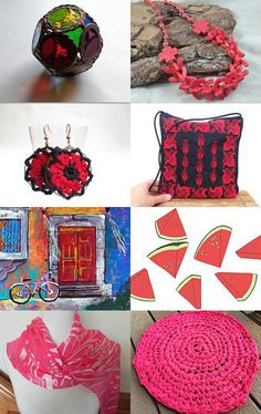 ** Red inspiration ** by Oleg on Etsy--Pinned with TreasuryPin.com
