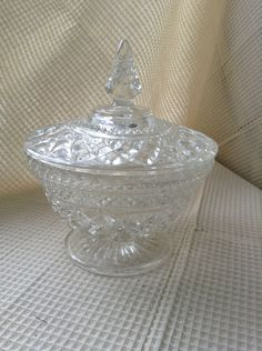 Vintage candy dish is a greta display piece and can hold/hide pieces you need but dont want out for people to see! Vintage Candy, Glass Candy, Candy Dishes, Barn, Etsy, Barns, Shed