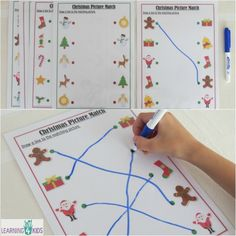 Printable (6pages) Christmas Picture Match resuable mats.  Great for fine motor