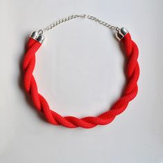 Collar corto de cuerda con trenza de dos cabos de dos&12 por DaWanda.com