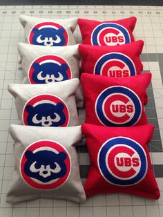 CORNHOLE BAGS Custom Embroidered: Chicago Cubs by debbierofstad