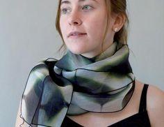 Three Pieced Scarf geometric scarf on model