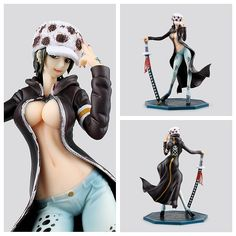 (38.93$)  Watch more here - http://ai00u.worlditems.win/all/product.php?id=32792377852 - 22cm Anime Funko pop One Piece Female Edition Trafalgar D Water Law Figurine Death Surgeon PVC Collectible Model Toy WL048