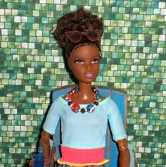 Made to Move Barbie - AA Barbie // Black Barbie // OOAK style by Aneka