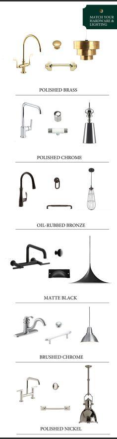 Matching Kitchen Hardware & Lighting