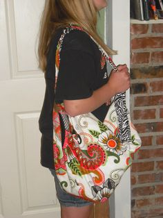 McKayla and I made Hobo bags.. Hers is bohemian/zebra with pockets and reversable too!