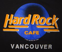 1989 Hard Rock Cafe Vancouver T-Shirt Puff Print Unworn Unwashed XL RARE