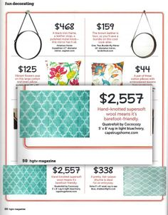 COCOCOZY Quatrefoil Rug in HGTV's Sept 2013 issue