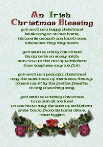 Blessings are part of the Celtic tradition in Ireland which merged with Christianity to create a beautiful tradition of toasts, greetings and farewells which wish good health and good luck on loved ones. There are a selection of traditional Irish. Christmas In Ireland, Celtic Christmas, Christmas Poems, Christmas Blessings, All Things Christmas, Holiday Fun, Christmas Holidays, Xmas, Christmas Recipes