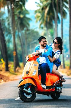 A sunny ride filled with lifetime of happiness! Spunky pre wedding photoshoot ideas, only for you. Photo Poses For Couples, Indian Wedding Photography Poses, Wedding Couple Poses Photography, Couple Picture Poses, Couple Pics, Bike Photoshoot, Couple Photoshoot Poses, Couple Posing, Wedding Photoshoot